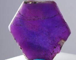 12.80 CTs Natural - Unheated Purple Purple Corundum Slice