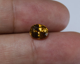 2.54ct. Lab Certified Yellow Cambodian Zircon