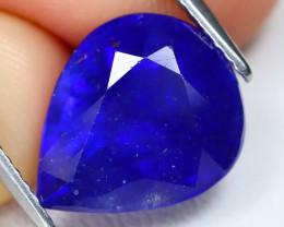 Blur Sapphire 6.42Ct Pear Cut Royal Blur Sapphire C2804