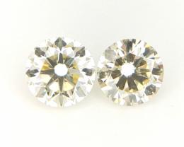 2/0.29 CT , Round Brilliant Cut Diamonds , Natural Diamonds , 2 PCS