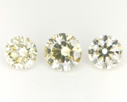 3/0.44 CTS , Round Brilliant Cut Diamonds
