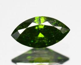 Hi - Stunning  0.10 Cts Natural Diamond Vivid Green Marquise Africa