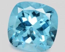 6.41 Carat Blue Natural Topaz Gemstone