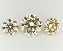 0.57 CT , 3 Pcs Diamond , For Pendant and earings