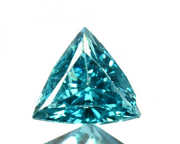 0.11 Cts Natural Electric Blue Diamond Fancy Trillion Cut 3mm  Africa