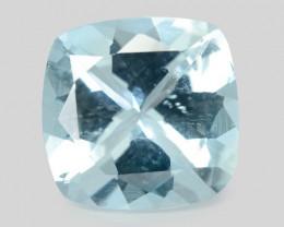 1.72 Cts Un Heated Blue Natural Aquamarine Loose Gemstone