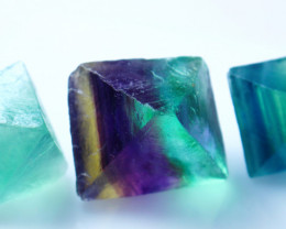 189.40 CT Natural - Unheated Green Fluorite Crystal Lot