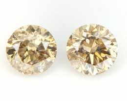 2/0.34 CT , Round Natural Diamonds , Diamonds For Jewelry