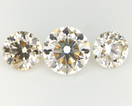 3/0.395 CTS , Loose Natural diamonds , Round Brilliant cuts