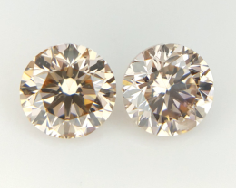 2/0.40 CT , Round Natural Diamonds , Diamonds For Jewelry