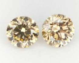 0.34 ct , Round Brilliant cut Diamonds , Natural Color Diamonds