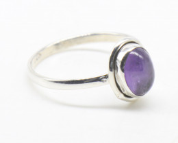 AMETHYST RING 925 STERLING SILVER NATURAL GEMSTONE JR830