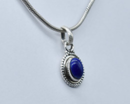 LAPIS PENDANT 925 STERLING SILVER NATURAL GEMSTONE JP4