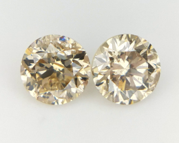 2/0.35 CTS , Natural Round Diamonds , Yellow Diamond