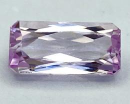 4.72Ct Kunzite Top Cut Top Luster Quality Gemstone.From Pakistan.PKZ 30