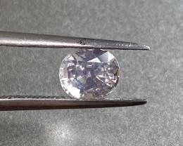 1.58ct unheated white sapphire
