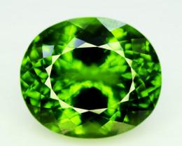 Peridot, 53.50 Ct Top Quality Oval Shape Peridot Gemstone