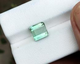 1.70 Ct Natural Green Sea Foam Color Transparent Tourmaline Ring Size Gemst