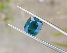2.70 Ct Natural Dark Blue Transparent Ring Size Tourmaline Gemstone