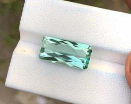 7.15 Ct Superb Piece Green Transparent Ring Size Kunzite Gemstone