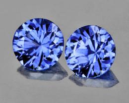 3.80 mm Round 2 pcs 0.45ct Blue Sapphire [VVS]