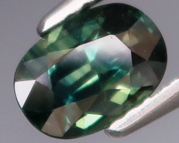 1.06  ct. Natural Earth Mined Blue Green Sapphire Australia UnHeated