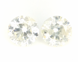 0.7 cts , Round Brilliant Cut , white Colour Diamond , Mild Coloured , 2 pc