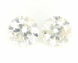 0.7 cts , Round Brilliant Cut , white Colour Diamond , Mild Coloured , 2 pc