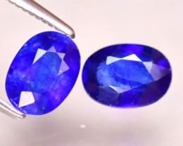 Ceylon Sapphire 2.30Ct 2Pcs Royal Blue Sapphire EF3014/A23