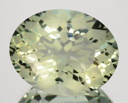 ~CUSTOM CUT~ 6.70 Cts Natural Prasiolite / Amethyst Fancy Oval Brazil