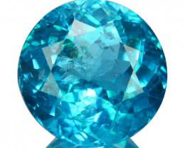 ~PRETTY~ 2.46 Cts Natural Apatite Paraiba Blue Green Color 8mm Round Brazil