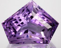 ~CUSTOM CUT~ 18.22 Cts Natural Purple Amethyst Fancy Cut Bolivia