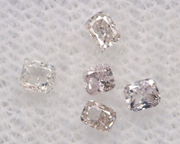 Fancy Pink Diamond 0.26Ct 5Pcs Untreated Fancy Diamond Lot BM1012