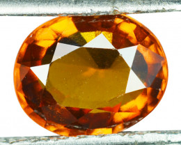 2.58 Cts Natural Cinnamon Orange Hessonite Garnet Oval Sri Lanka