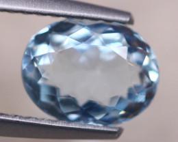 1.19ct Natural Blue Aquamarine Oval Cut Lot D488