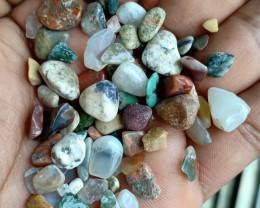 100 Carats Mixed Gemstones Tumbled Chips 100% Natural & Untreated VA502