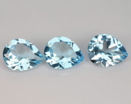 10.47 Carat 3 Pcs Blue Natural Topaz Gemstones