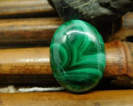 Natural gemstone malachite cabochon (G2386)