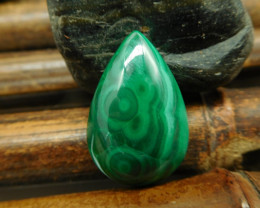 New malachite gemstone cabochon (G2391)