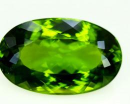 Peridot, 44.00 Ct Top Quality Oval Shape Peridot Gemstone