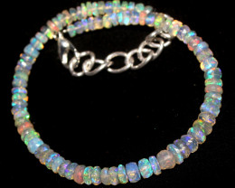 20 Crts Natural Ethiopian Welo Faceted Opal Bracelet 77