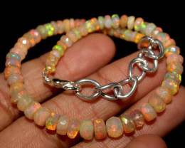 23 Crts Natural Ethiopian Welo Faceted Opal Bracelet 72