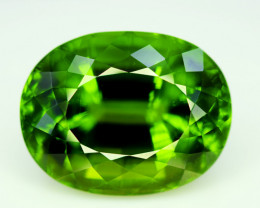 Peridot, 39.50 Ct Top Quality Oval Shape Peridot Gemstone