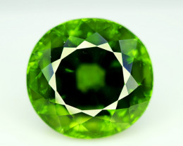 Peridot, 37.10 Ct Top Quality Oval Shape Peridot Gemstone