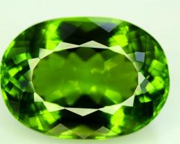 Peridot, 30.00 Ct Top Quality Oval Shape Peridot Gemstone