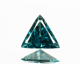 0.07Cts Natural Diamond Flashing Blue Fancy  Africa