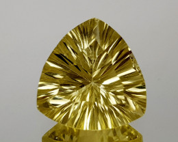 5.38Crt Lemon Quartz Concave Cut Natural Gemstones JI14