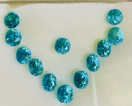 13.36 ct Blue Zircon Gemstones