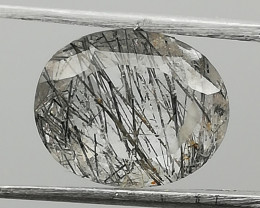 Rutilated quartz, 2.18ct, very nice stone to use for jewelry or to collect!