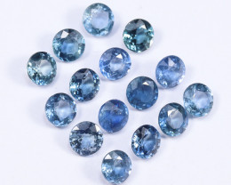 6tcw Natural Blue 4.5mm Round Ceylon Sapphire Parcel